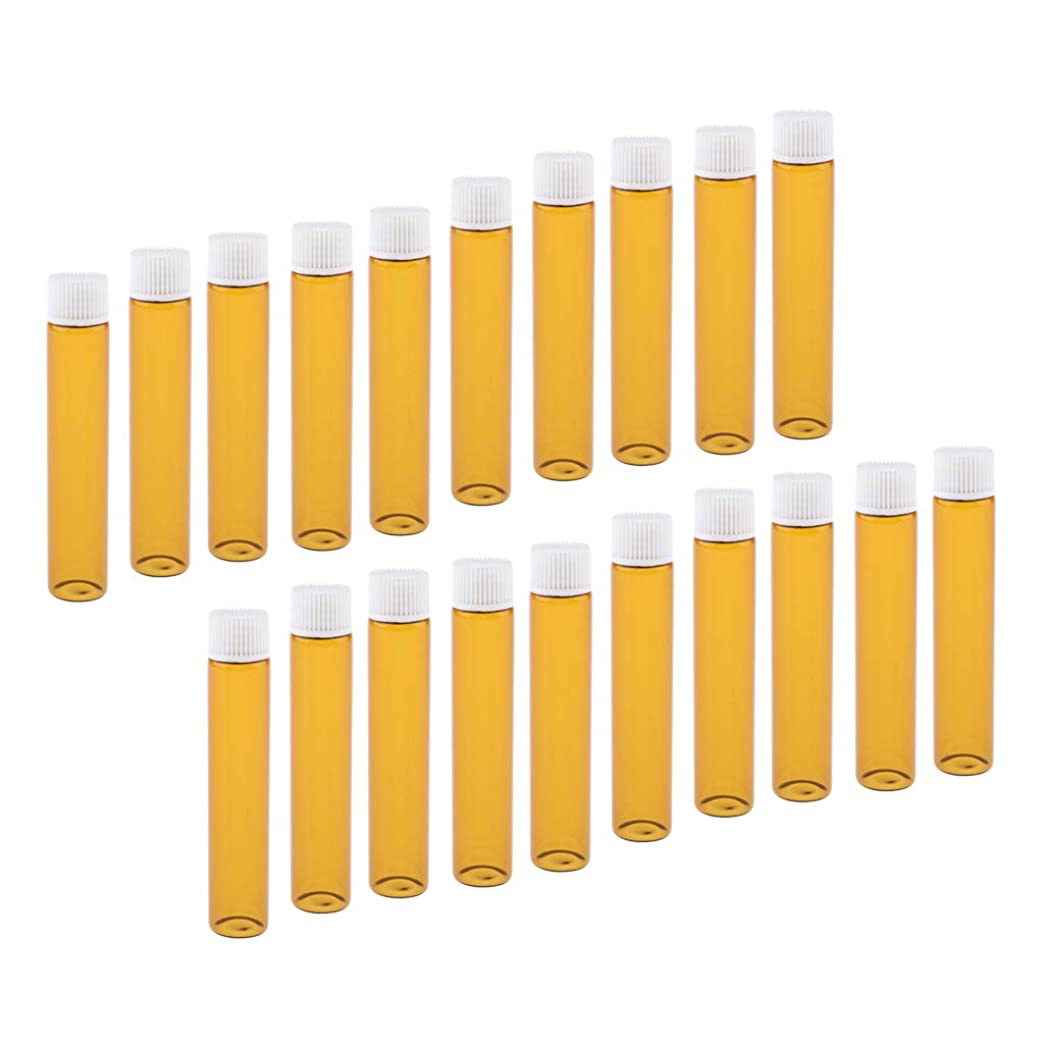 受信機作成する浸すToygogo 全4色 香水ボトル ガラスボトル 小分け容器 小分けボトル 詰替え容器 再利用可能 20個入り - ホワイト