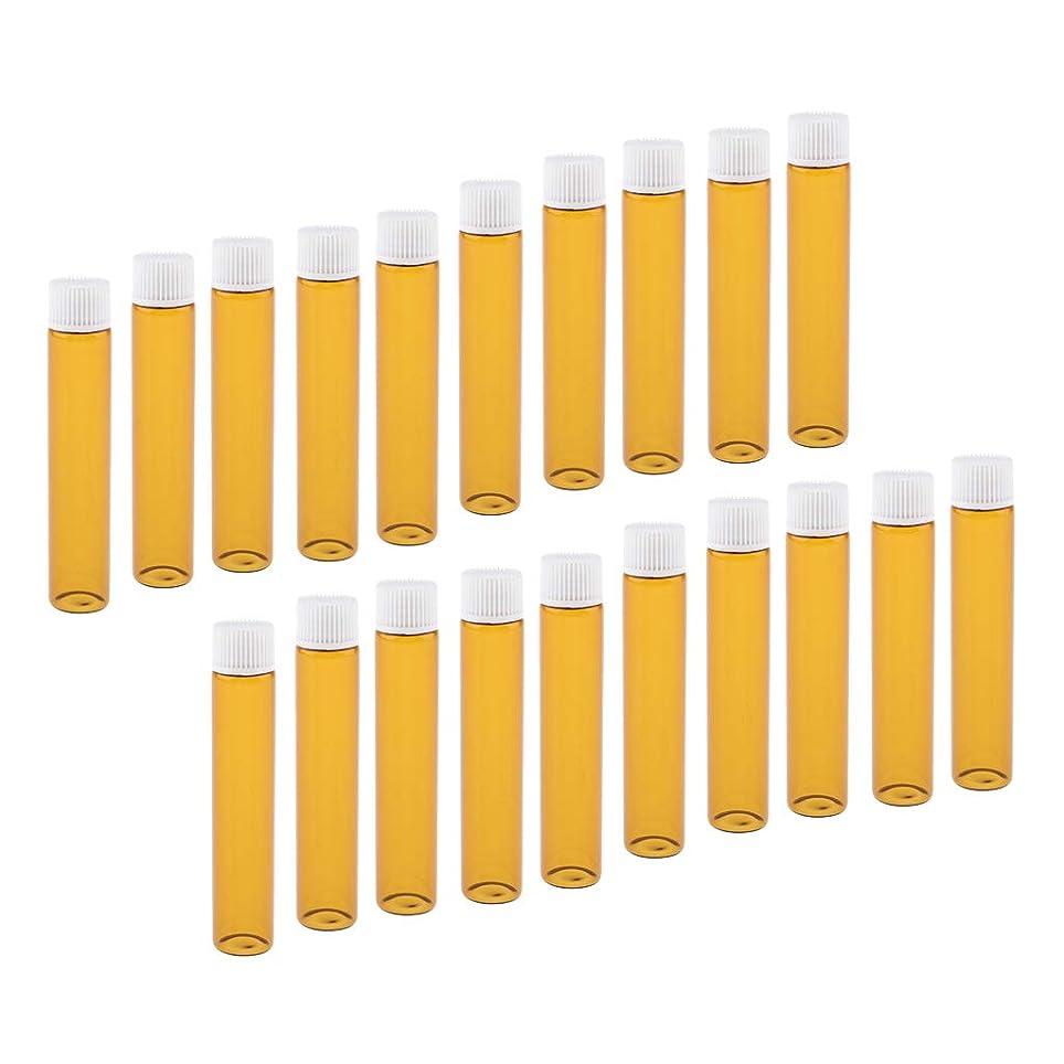 サーバ取るに足らない世論調査Toygogo 全4色 香水ボトル ガラスボトル 小分け容器 小分けボトル 詰替え容器 再利用可能 20個入り - ホワイト