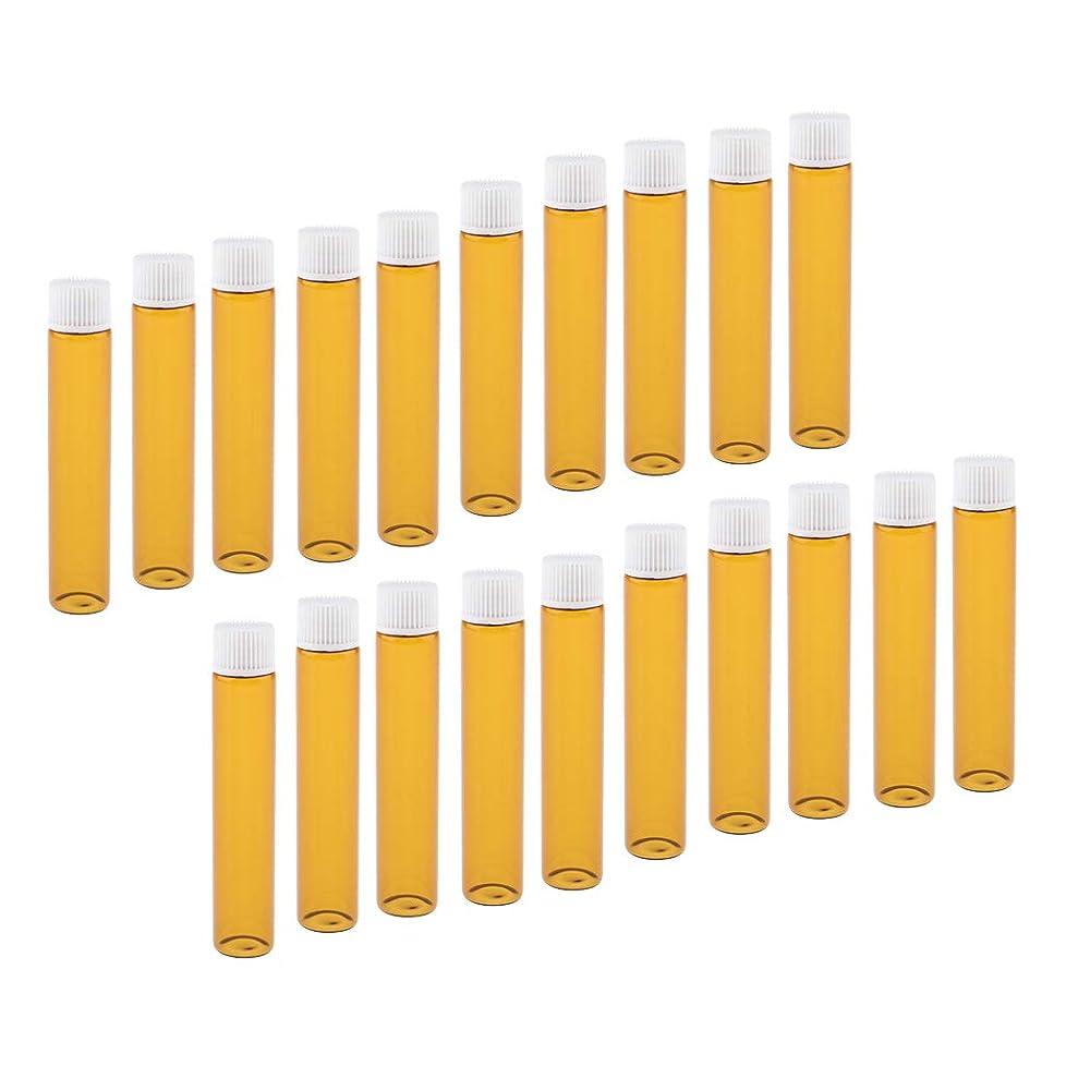 王女アプトオフセットToygogo 全4色 香水ボトル ガラスボトル 小分け容器 小分けボトル 詰替え容器 再利用可能 20個入り - ホワイト