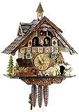 """Eble 22304 - Orologio a cucù originale della Foresta Nera, in vero legno, meccanico, durata della carica: 1 giorno, certificato VDS, """"casetta della Foresta Nera"""", 40 cm"""