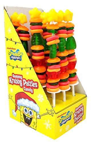 Spongebob Squarepants Gummy Krabby Patty Kabobs, 12 Pack