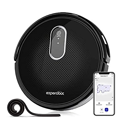 Experobot Robotic Vacuum Cleaner,MasterClean X7 Robot Vacuum Cleaner, Wi-Fi Cleaner,2200Pa Strong Suction,Works with Alexa, Self-Charging, Ideal for Pet Hair, Floor and Carpets