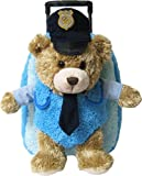 Kreative Kids Police Chief Bear Plush Rolling Backpack w/Removable Animal & Wheels