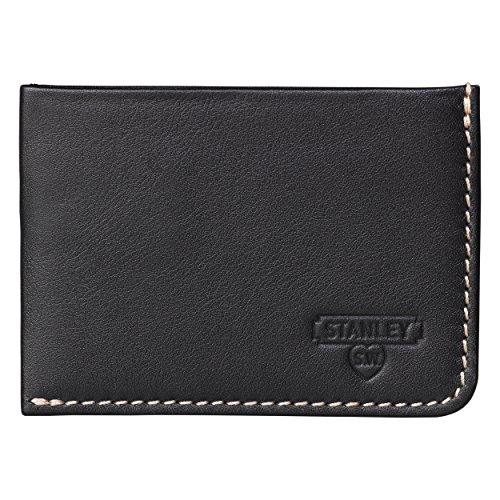 Stanley Tools Black & Tan Card Wallet Kreditkartenhülle, 13 cm, Schwarz (Black Tan)