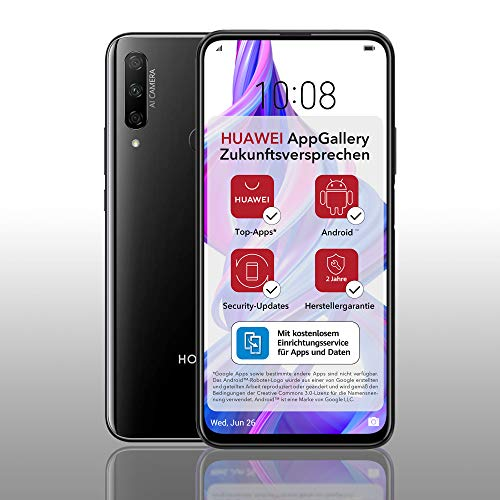 HONOR 9X PRO Dual-SIM Smartphone - Midnight Black (6,59 Zoll Display, 256 + 6GB, Android 9.0 AOSP ohne Google Play Store, EMUI 9.1) + 48MP Triple-Kamera + 16MP Frontkamera – Deutsche Version