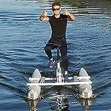 LHYCM Bicicleta De Agua Portátil, Bote Inflable para Kayak, Deporte, Pedal De...