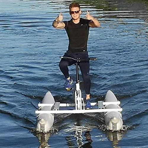 LHYCM Bicicleta De Agua Portátil, Bote Inflable para Kayak, Deporte, Pedal De Mar, Bicicleta Acuática para Yates Deportivos Acuáticos, Parque Acuático