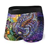 XCNGG Boxer da Uomo Scorpio Scorpius The Scorpion Magic Cartoon Fly Front con Pouch Underwear