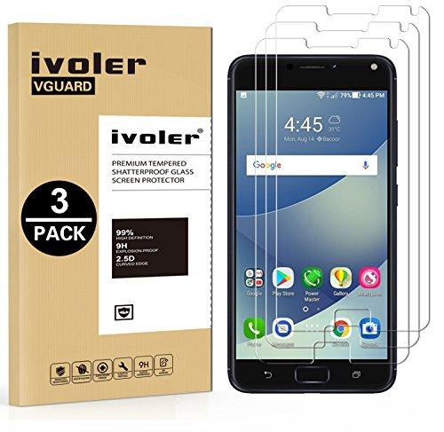 iVoler [3 Pack] Pellicola Vetro Temperato per ASUS Zenfone 4 Max ZC554KL / ASUS Zenfone 4 Max PRO ZC554KL / ASUS Zenfone 4 Max Plus ZC554KL 5.5'', Pellicola Protettiva, Protezione per Schermo
