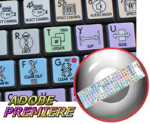 Adobe Premiere Galaxy Series Keyboard Stickers Shortcuts 12X12 Size