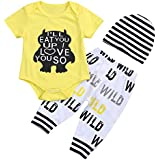 6 Pieces Outfit Set Baby Boys' Funny Deer Print...
