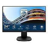 Philips 243S7EHMB Monitor 24' LED IPS, Full HD, 3 Side Frameless, Regolabile in Altezza, Girevole, Pivot, Inclinabile, Casse Audio Integrate, Softblue Protezione Occhi, HDMI, VGA, Vesa, Nero