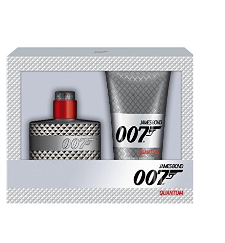 James Bond 007 Quantum cadeauset homme/men, Eau de toilette verstuiver/spray 50 ml, douchegel 150 ml, per stuk verpakt, (1 x 200 ml)