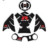 Repuestos Powersports For Suzuki 600 750 1000 K1 K3 K4 K5 K6 fibra K7 K8 K9 de la motocicleta del carbón 3D Fish Tank Bone vinilo decorativo Fit (Color : GSXR 600 750 1 set)