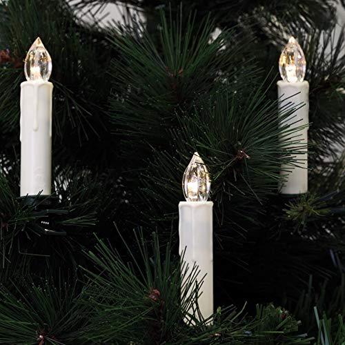 Rotpfeil kabellose Kerzen, 10 warmweiße LEDs, batteriebetrieben (9019636531)