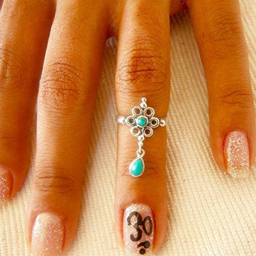 Anillo nudillo plata - anillo midi plata - anillo cuff plata - anillo pila plata - anillo dedo superior - anillo ajustable - anillo de plata mínimo