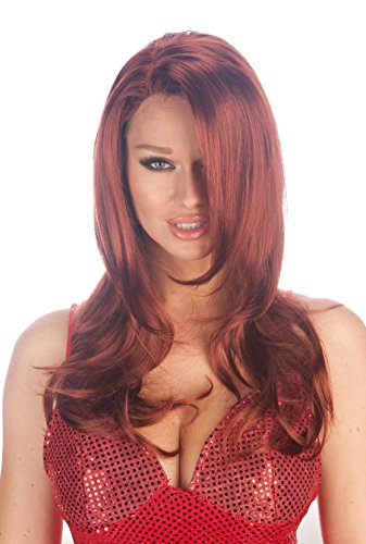 Premium Quality Jessica Rabbit Style Character Wig - Natural Red
