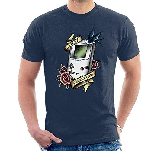 Cloud City 7 First Gen Old School Gamer Tattoo Style Men's T-Shirt