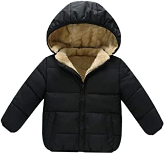 Goodkids Baby Girls Boys' Winter Fleece Jackets with Hooded Toddler Cotton Dress Warm Lined Coat Outer Clothing