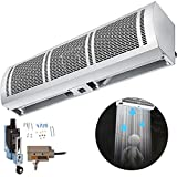 """VBENLEM 36"""" Air Curtain 2 Speeds Commercial Air Curtain, 1372 CFM/1511 CFM, Free Included 2 Kinds Micro Switch (Limit Switch), CE Certified, 110V Commercial Indoor Air Curtain"""
