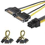 [2 Confezioni] J&D 2X SATA Corrente 15 Pin to 6 Pin PCle Grafica Rapido Video Carta Corrente Cavo Adattatore