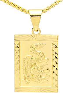 Fashion Alloy Dragon Totem Dog Tag Pendant Necklace,20