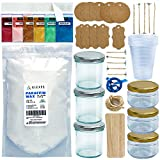 ALEXES Candle Making Kit - Granulated Wax Candle Making Kit - Make Your Own 6 Jar Granulated Wax Candles - Candle Making Supplies - DIY Supplies for Candle Making