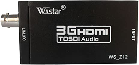 Wiistar HDMI to SDI HD Audio Video Converter HDMI to SDI Adapter Support SDI/HD-SDI/3G-SDI 1080p for Camera Home Theater