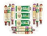 Keto Gift Box Sugar Free Sampler Pack Grass Fed Beef Sticks & Bars Healthy Free Range Turkey Sticks Gluten MSG Nitrate & Nitrite Free Paleo Friendly Snacks Mission Meats Whole30