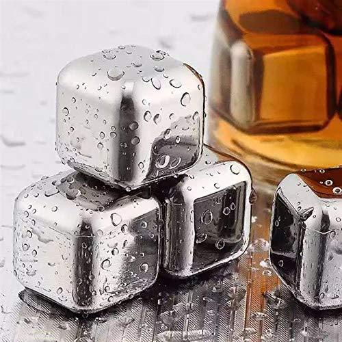 NMLB 10 Stück/Los 304 Edelstahl Whisky Eiswürfel Steine Gletscher Kühler Getränk Gefrierschrank Gel EIS Rock Wein Whisky Stein Speckstein