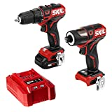 SKIL 2-Tool Kit: PWRCore 12 Brushless 12V 1/2 Inch Cordless Drill Driver and 1/4 Inch Hex Impact...