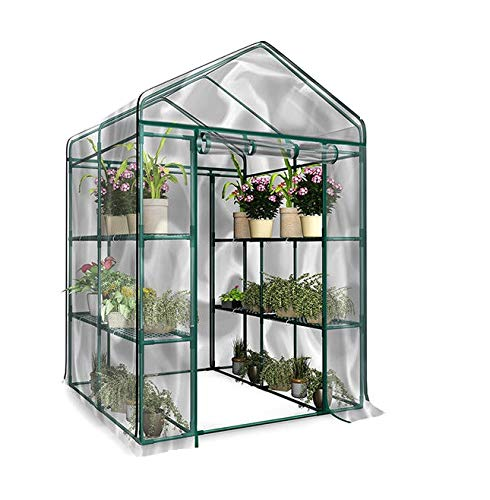 PVCビニールハウス ガーデン温室 温室カバー 温室・園芸・棚・ラック・家庭菜園 組立式 簡易 休憩所 金属型枠別売り