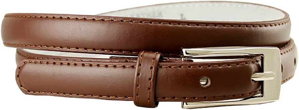 """Women's Skinny Solid Color Ladies Fashion Dress Casual Belt 3/4"""" 19mm"""