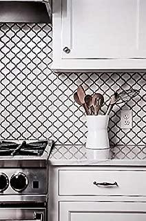 White Glossy Lantern Arabesque Porcelain Mosaic Tile Wall and Floor Backsplash