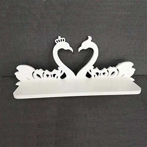 Mlimy Ablagegestelle Büro Weiß, Holz, Kunststoff Geschnitztes Schwan-Wandhalterung Wedding Gift Pylon-Wandhalterung Display-Regale (Color : #1)