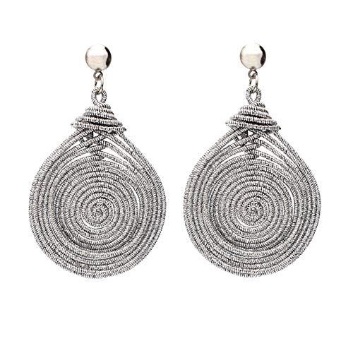 Homeofying, grandi orecchini da donna a forma di spirale ovale, multistrato, orecchini pendenti