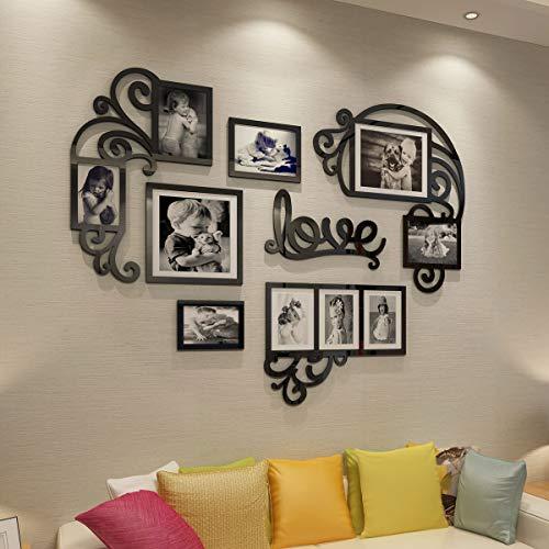 CrazyDeal Collage Cornici 3D DIY Wall Decals Decor Art Adesivi Immagini Decorazioni per Soggiorno Camera da Letto Bambini Cena Moderna