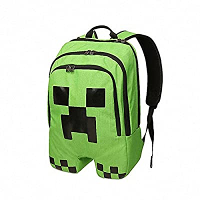 Green Minecraft Creeper Waterproof Backpack for Kids