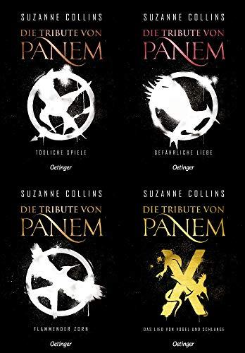Die Tribute von Panem 1-3 + die Vorgeschichte + 1 exklusives Postkartenset