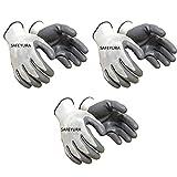 SAFEYURA Anti Cut Hand Gloves Pack of 3 Pairs- Nylon Grey