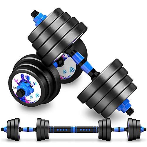 Qhxxtxjis Eisen Hantel Herren Fitnessgeräte Home Combination Set,Bodybuilding-geräte Haushalt Zerlegbar Ohne Geruch Umweltfreundliche Hantel Schwarz,Schwarz,15kg