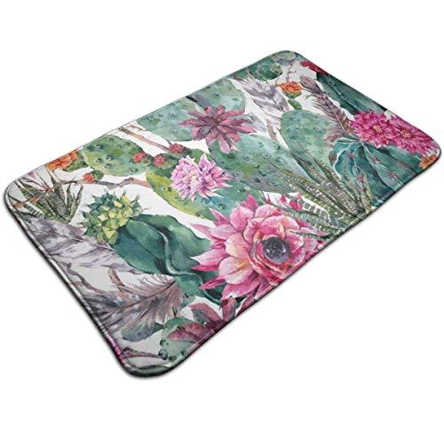 N/A Kakteen snoekkulente rode bloem bonsai print deurmat badmat vloermat tapijt outdoor/badmatten