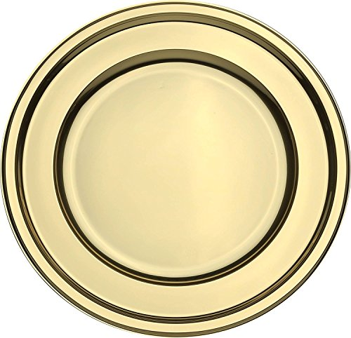 Mozaik 4 Gold Plastic Round Charger Plate 30cm