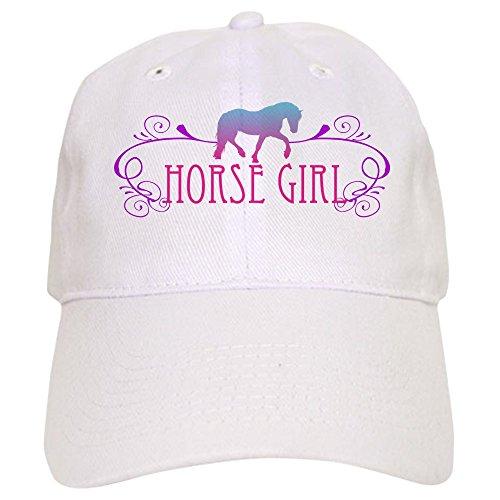 CafePress Horse Girl Cap Baseball Cap with Adjustable Closure, Unique Printed Baseball Hat White