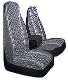 Allison 67-1917GRY Gray Diamond Back 60/40 Split Truck Seat Cover ( Pack of 2)