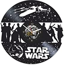 Star Wars Clock, Darth Vader, Xmas Gift For Man, Gift Ideas For Fans Star Wars, Star Wars Gift For Boy, Vintage Vinyl Record, Star Wars Gift , Wall Clock Large, Star Wars Birthday Gift