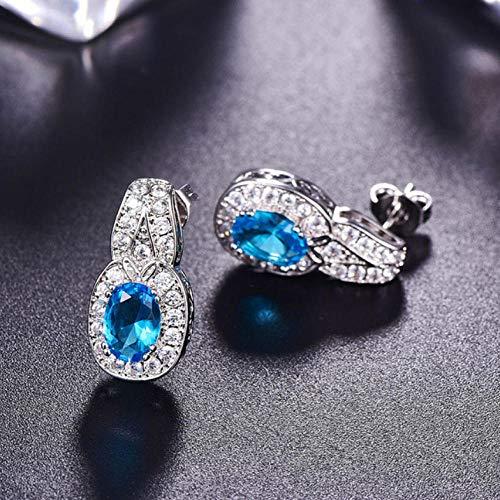 Empty 925 sterling zilver edelsteen oorbellen oorbellen sieraden dangle oorbellen sieraden geschenk