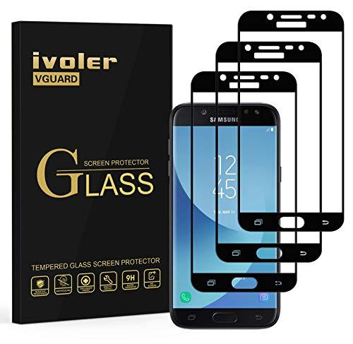 ivoler [3 Unidades] Protector de Pantalla Compatible con Samsung Galaxy J5 2017,...