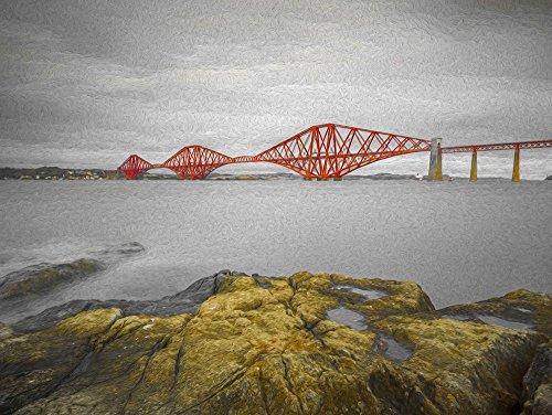 Posterazzi PDXAF20171017224C02PLARGE Forth Rail Bridge, Scotland Photo Print, 36 x 24, Multi