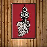 YRZYT Roy Lichtenstein Poster Comic Pistola Guay Poster Roy Lichtenstein Pared Arte Pop Cuadro Obra De Arte ExposicióN Lienzo Cuadros Famosos Pintura Hogar Decoracion